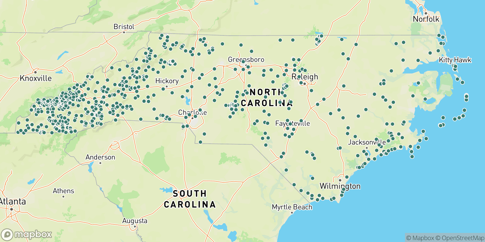The best camping near North Carolina, North Carolina